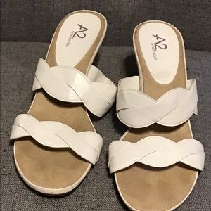 A2 By Aerosoles High Heels, White, Sz. 9